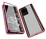 Dafoni Magnet Glass Samsung Galaxy S20 Ultra 360 Derece Koruma Cam Kırmızı Kılıf