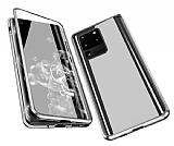 Dafoni Magnet Glass Samsung Galaxy S20 Ultra 360 Derece Koruma Cam Silver Kılıf