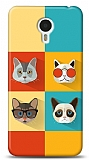Meizu M1 note Four Cats Kılıf