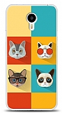 Meizu M2 note Four Cats Kılıf