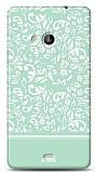 Dafoni Microsoft Lumia 535 Green Flower Kılıf
