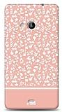 Dafoni Microsoft Lumia 535 Pink Flower Kılıf