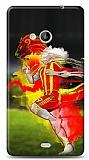 Dafoni Microsoft Lumia 535 Sarı Kırmızı Kılıf