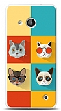 Microsoft Lumia 550 Four Cats Kılıf