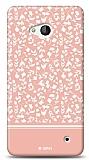 Microsoft Lumia 640 Pink Flower Kılıf