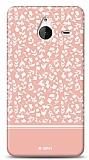 Dafoni Microsoft Lumia 640 XL Pink Flower Kılıf