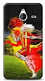 Dafoni Microsoft Lumia 640 XL Sarı Kırmızı Kılıf
