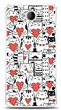 Dafoni Microsoft Lumia 650 Love Cats Kılıf