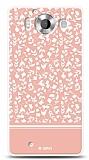 Dafoni Microsoft Lumia 950 Pink Flower Kılıf