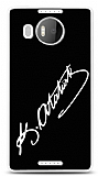 Microsoft Lumia 950 XL Atatürk İmza Siyah Kılıf