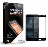 Dafoni Nokia 5 Tempered Glass Premium Full Siyah Cam Ekran Koruyucu
