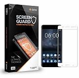Dafoni Nokia 6 Tempered Glass Premium Full Beyaz Cam Ekran Koruyucu