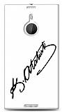 Dafoni Nokia Lumia 1520 Atat�rk �mza Beyaz K�l�f
