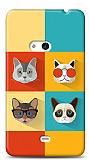 Dafoni Nokia Lumia 625 Four Cats K�l�f