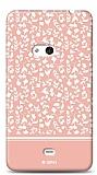 Nokia Lumia 625 Pink Flower Kılıf