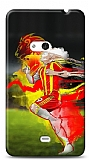 Dafoni Nokia Lumia 625 Sar� K�rm�z� K�l�f