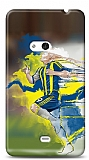 Dafoni Nokia Lumia 625 Sar� Lacivert K�l�f
