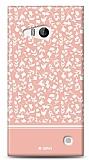 Nokia Lumia 730 Pink Flower Kılıf