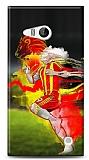 Nokia Lumia 730 Sarı Kırmızı Kılıf