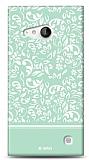 Nokia Lumia 735 Green Flower Kılıf