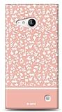 Nokia Lumia 735 Pink Flower Kılıf