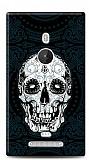 Nokia Lumia 925 Black Skull Kılıf