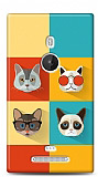 Dafoni Nokia Lumia 925 Four Cats K�l�f