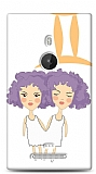 Nokia Lumia 925 İkizler Burcu Kılıf