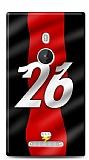 Dafoni Nokia Lumia 925 K�rm�z� �im�ekler K�l�f