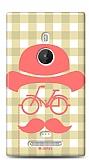 Dafoni Nokia Lumia 925 Retro Mustache K�l�f