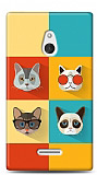 Nokia XL Four Cats Kılıf