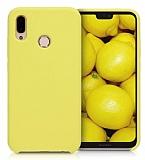 Dafoni Orjinal Series Huawei P20 Lite Sarı Silikon Kılıf