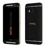 Dafoni PowerGuard HTC One M9 Ön + Arka Siyah Deri Kaplama Sticker