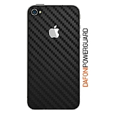 Dafoni PowerGuard iPhone 4 / 4S Arka Karbon Fiber Kaplama Sticker