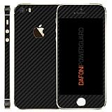 Dafoni PowerGuard iPhone SE / 5 / 5S �n + Arka + Yan Karbon Fiber Kaplama Sticker