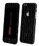 Dafoni PowerGuard iPhone 6 / 6S Ön + Arka + Yan Siyah Timsah Derisi Kaplama Sticker