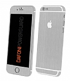 Dafoni PowerGuard iPhone 6 Plus Ön + Arka + Yan Silver Kaplama Sticker