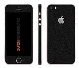 Dafoni PowerGuard iPhone SE / 5 / 5S Ön + Arka + Yan Siyah Deri Kaplama Sticker