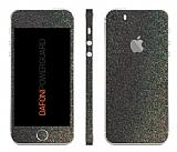 Dafoni PowerGuard iPhone SE / 5 / 5S Ön + Arka + Yan Simli Siyah Kaplama Sticker