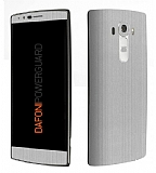 Dafoni PowerGuard LG G4 Ön + Arka Silver Kaplama Sticker