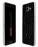 Dafoni PowerGuard Samsung Galaxy A7 2016 Ön + Arka Siyah Timsah Derisi Kaplama Sticker