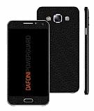 Dafoni PowerGuard Samsung Galaxy E7 Ön + Arka + Yan Siyah Deri Kaplama Sticker