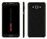 Dafoni PowerGuard Samsung Galaxy J5 Ön + Arka + Yan Siyah Deri Kaplama Sticker