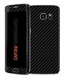 Dafoni PowerGuard Samsung Galaxy S6 Edge �n + Arka Karbon Fiber Kaplama Sticker