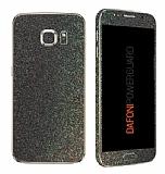 Dafoni PowerGuard Samsung Galaxy S6 Ön + Arka + Yan Simli Siyah Kaplama Sticker