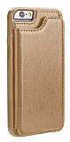 Dafoni Retro iPhone SE 2020 Cüzdanlı Kahverengi Rubber Kılıf