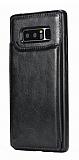 Dafoni Retro Samsung Galaxy Note 8 Cüzdanlı Siyah Rubber Kılıf