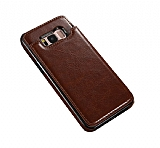 Dafoni Retro Samsung Galaxy S8 Plus Cüzdanlı Kahverengi Rubber Kılıf