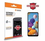 Dafoni Samsung Galaxy A21 Slim Triple Shield Ekran Koruyucu