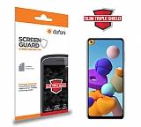 Dafoni Samsung Galaxy A21s Slim Triple Shield Ekran Koruyucu